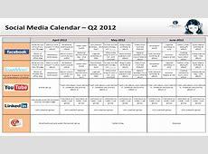 Great Social Media Content Calendar Template Ideas A