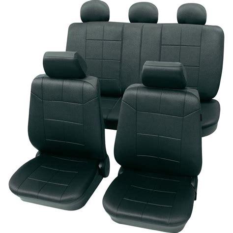 housse siege voiture cuir housse de siège 17 pièces petex 22574901 polyester