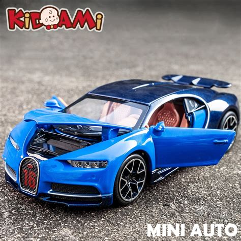 How much does the shipping cost for bugatti chiron toy car? KIDAMI 1:32 Alloy Bugatti Chiron Pull Back Diecast scale ...