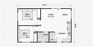 Two, 2, Bedroom, Adu, Floor, Plans