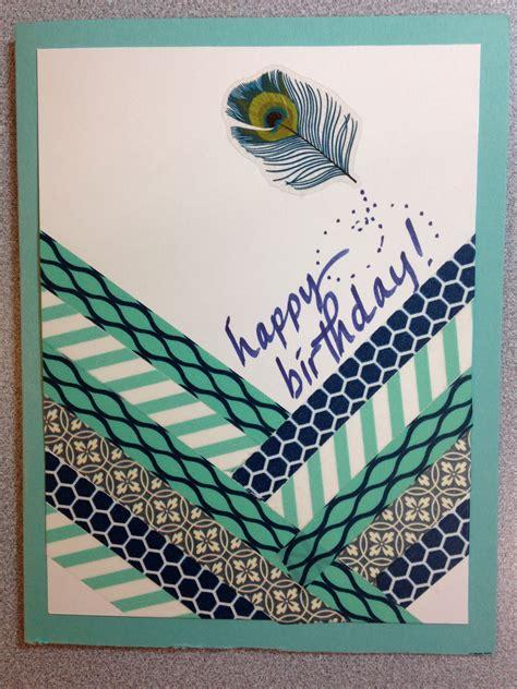 washi tape   peacock sticker quick  easy