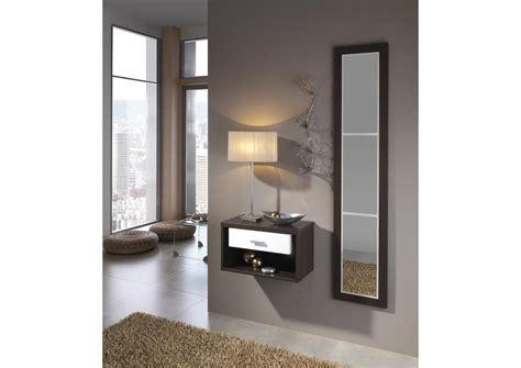 acheter votre petit meuble d entr 233 e mural avec miroir chez simeuble