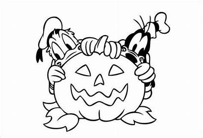 Coloring Cartoon Halloween Pages Colouring