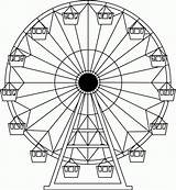 Ferris Wheel Coloring Carnival Drawing Drawings Wheels Pages Tattoo Project Sketch Printable Wordpress Designs Projects Cute Amusement Park Crafts Fair sketch template
