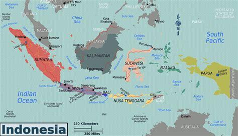indonesien physik karte