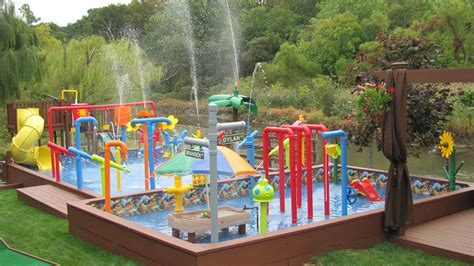 Backyard Water Park - the water park is completed backyard waterpark