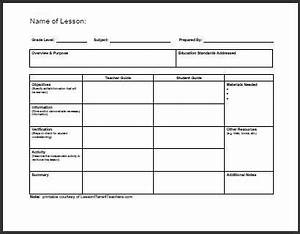 daily lesson plan template 1 wwwlessonplans4teachers With college level lesson plan template