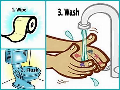 Potty Toilet Clip Clipart Bathroom Flush Cartoon