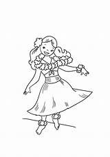 Hula Dancing Cartoon Coloring Pages Hawaiian Print Dancer Coloringonly Categories Game sketch template
