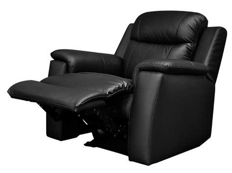 canapé 3 2 places pas cher fauteuil relax en cuir de vachette coloris noir evasion