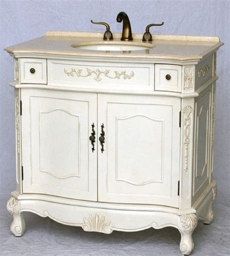 bathroom vanity traditional style antique white