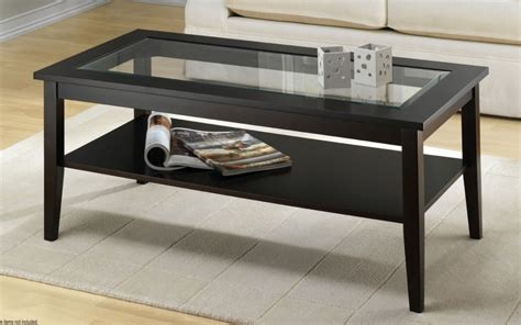 Wood And Glass Coffee Table Overstock