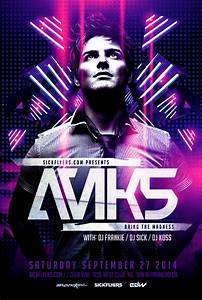 Electro Dance Music Concert Flyer Template On Behance