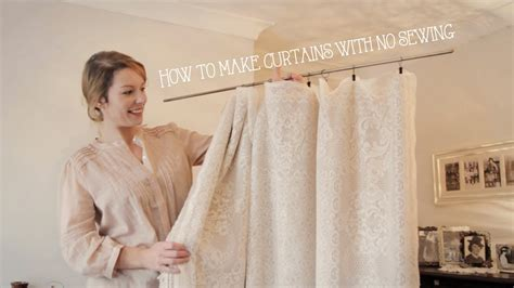 How To Make Drapes Without Sewing - how to make curtains without sewing in minutes