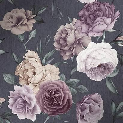 Floral Purple Midnight Pink Slate Rolls Sample