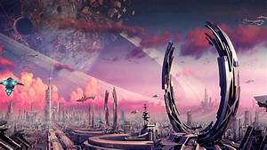 Futuristic city wallpaper - 1024043