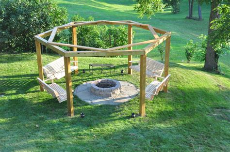 Porch Swings Fire Pit Circle