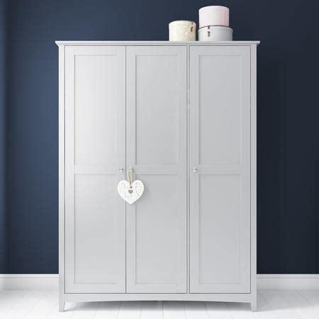 Fenton 3 Door Wardrobe in Light Grey   Furniture123