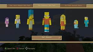 """Minecraft Console: """"The Simpsons Skin Pack"""" Review & Full ..."""