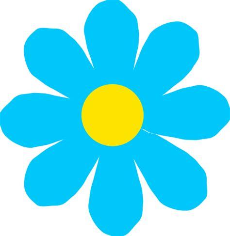 flower clipart bright blue flower clip at clker vector clip