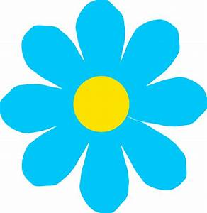 Bright Blue Flower Clip Art at Clker.com - vector clip art ...