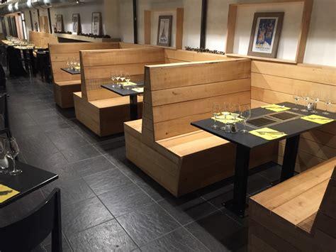 banquette cuisine aménagement restaurant bois brut mt design
