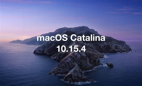 macos catalina  released security updates