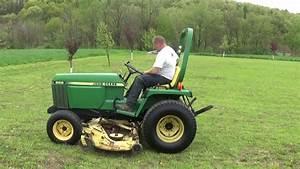 John Deere 855 Diesel 4x4 Tractor With 72 U0026 39  U0026 39  Mower Deck