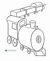 Train Coloring Trains Pages Toy sketch template