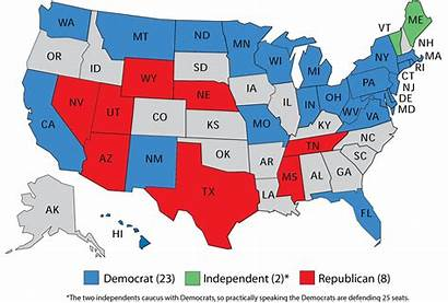 Senate Map Democrats Republican Political States Party