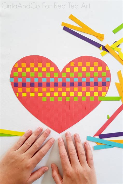 Rainbow Heart Paper Weaving Activity - Red Ted Art - Make ...