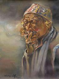 Smoking Portrait Painting