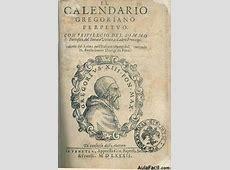 Tal día como hoy, se cambia del calendario juliano al
