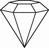Diamond Coloring Outline Shape Gem Background Drawing Transparent Clipart Pages Cut Simple Line Shapes Template 3d Tattoo Adult Gemstone Drawings sketch template