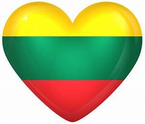 Lithuania Large Heart Flag