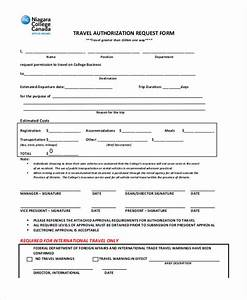 Travel Request Form Example