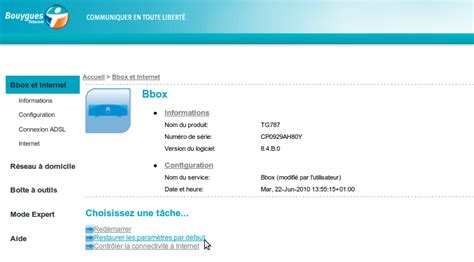 fimware 8 4 b 0 ouvrir les ports sur une bbox thomson avec le fimware 8 4 b 0