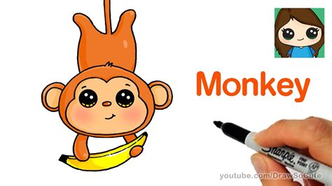 Whichever kind of penguin you decide to draw, the process is simple once to draw an emperor penguin, start by sketching a horizontal v shape to make the beak. How to Draw a Cartoon Monkey Easy - YouTube