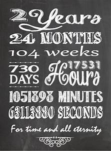 one willis family 2 year anniversary chalkboard printable With 2 year wedding anniversary