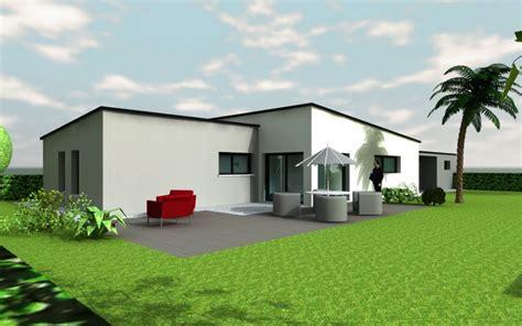 plan maison moderne plain pied toit plat images