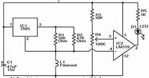 Circuit Schematic Air Flow Detector Using Lm339 Ic