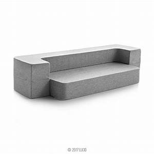 Lucid 8 inch convertible foam mattress and floor sofa for Foam convertible sofa bed