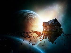 Tesla Dans Lespace : image la maison dans l espace photoshoplus ~ Nature-et-papiers.com Idées de Décoration