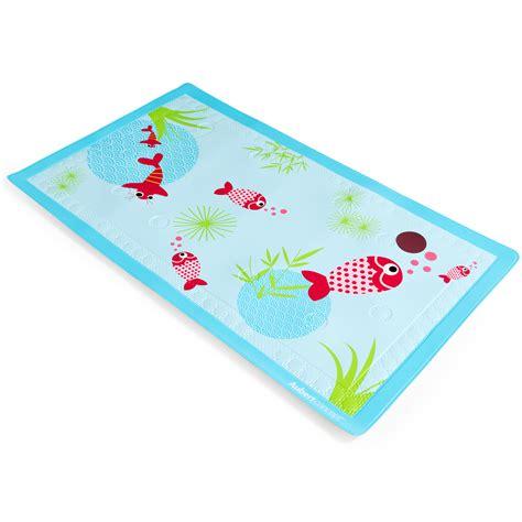 tapis de bain aquarium bleu de aubert concept accessoires