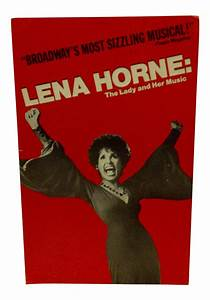 "Vintage Broadway Musical Poster ""Lena Horne"" 