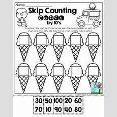 Skip Counting Cones By 10's Don't Let You Students Get Bored During The Summer Months Give