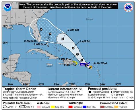 tropical storm dorian  update stronger dorian