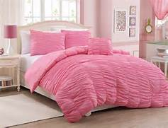 Pink Bedroom Set by Total Fab Rose Colored Bedding Comforters Sheet Sets Pillows