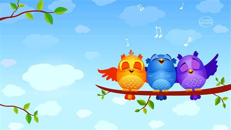 Free Animated Tree Wallpaper - wallpaper musical birds animated tree branch leaves hd