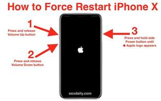 how to reboot iphone how to restart iphone x os x daily howldb
